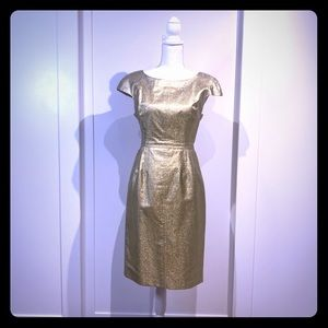Dolce and Gabbana fitted Gold dress